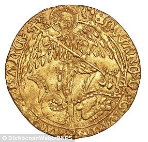 An extremely rare gold coin (pictured) dating back to the 15th century and worth £15,000 has been unearthed by an amateur archaeologist who thought it was a bottle top