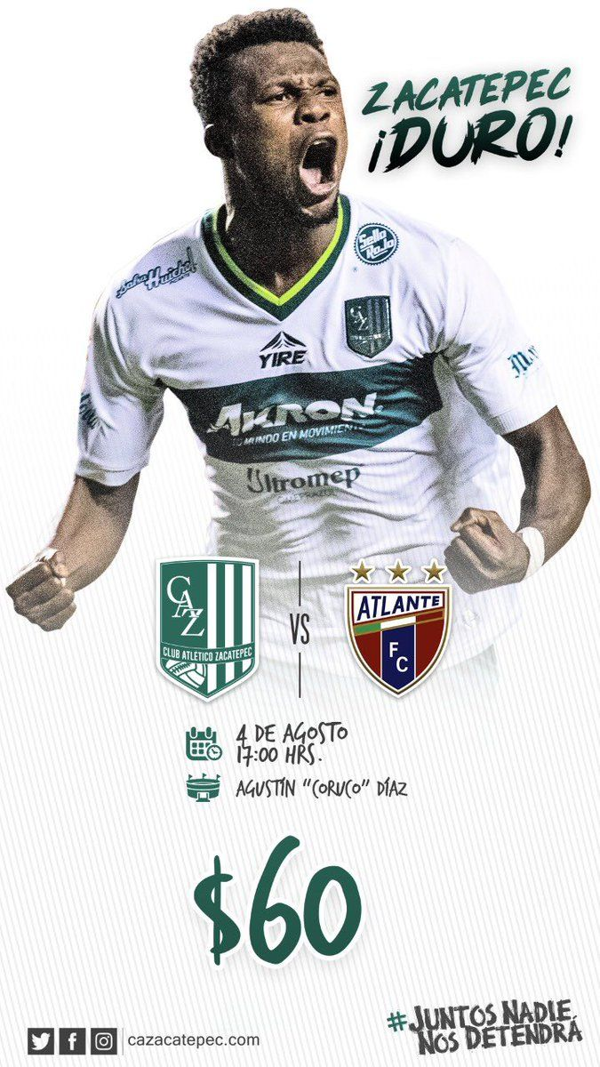Zacatepec vs Atlante en Vivo Univision TDN Ascenso MX 2018