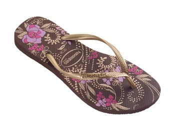 Check out the deal on havaianas slim season: dark brown/light golden at Agua Viva USA