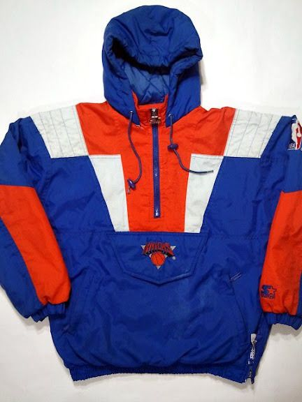 Starter - New York Knicks Pullover Jacket - 1990s | Vintage Sports ...