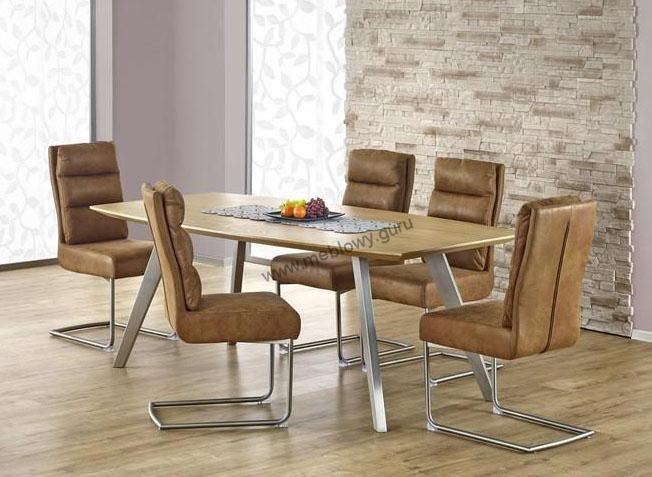 Stół Goliat to wszechstronny model, który jest idealnym rozwiązaniem w nowoczesnej jadalni lub spotkań firmowych w nowoczesnym biurze.