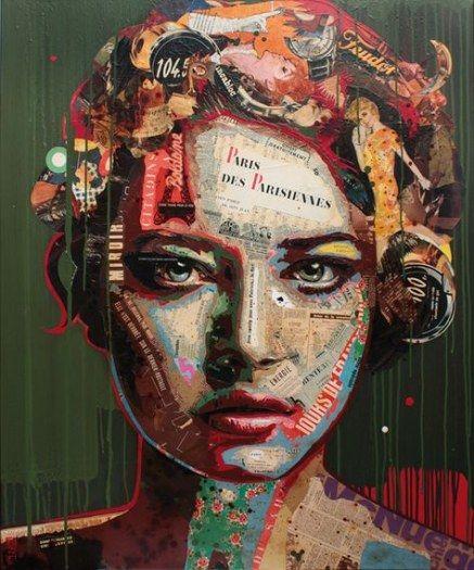 41+ trendy painting portrait ideas faces mixed media