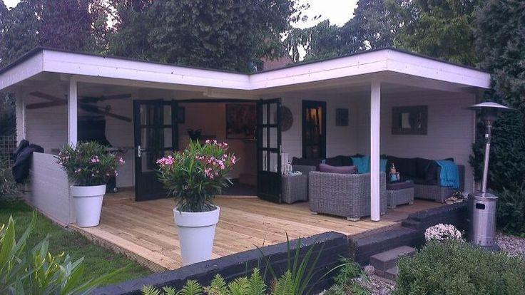 TuinTotaalCenter - Modernvarioflex Hoektuinhuis de luxe | Blokhutten, Sierbestrating, Garages