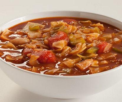 Fat Burning Veggie Soup (3 SmartPoints) #WeightWatchers #SmartPoints #CabbageSoup