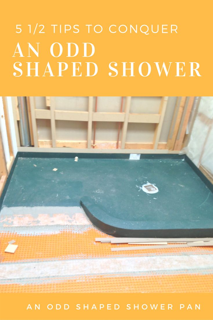 how to make a base in your shower