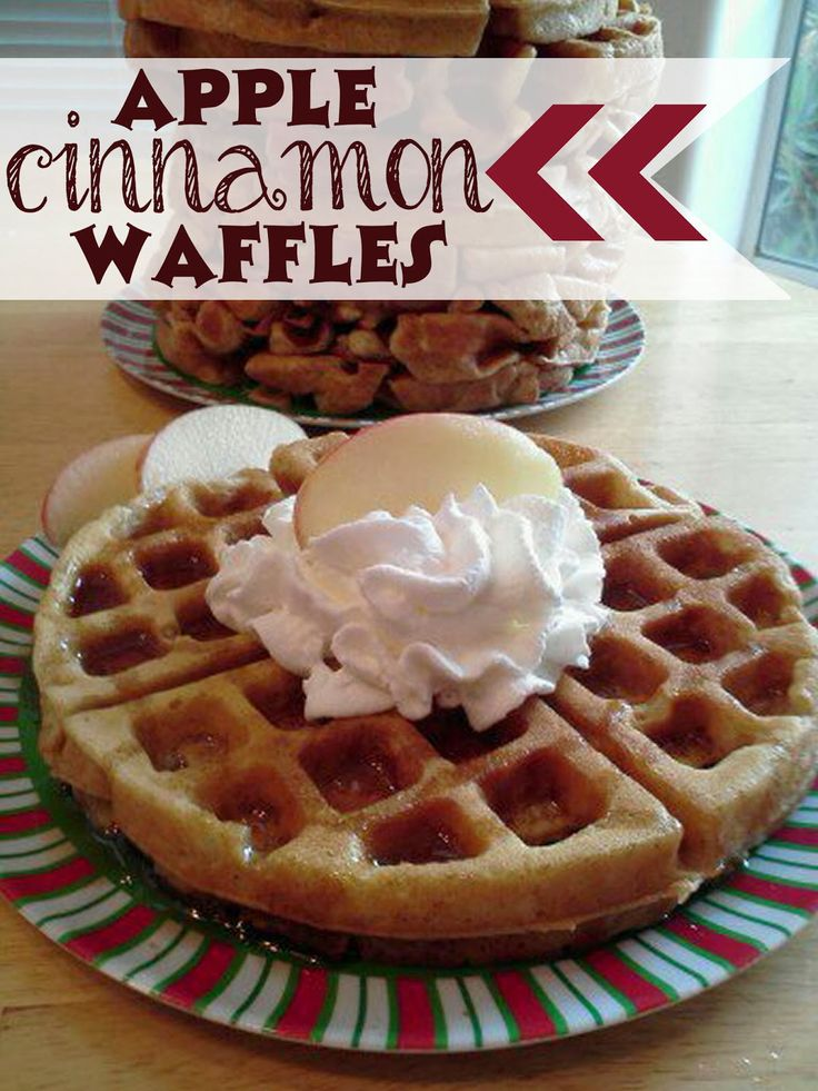 Sugar Blossoms: Apple Cinnamon Waffles (shredded apples and cinammon)