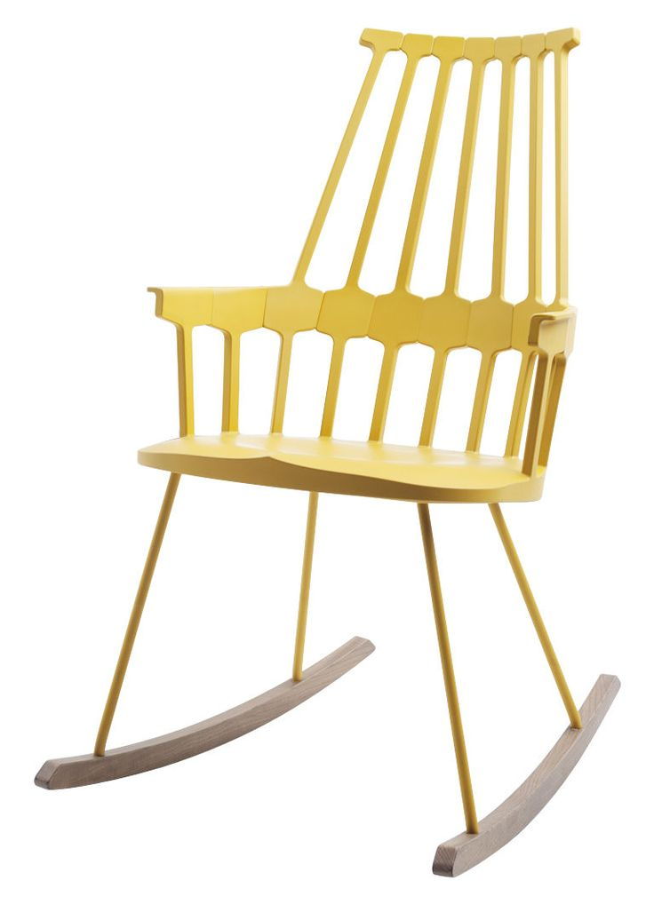 Comback Rocking Chair Yellow / Wood By Kartell   Design Furniture And  Decoration With Made In Design Great Ideas