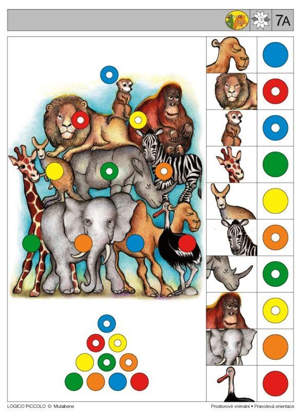 LOGICO PICCOLO | Prostorové vnímání | Pravolevá orientace | Didaktické pomůcky a hračky - AMOSEK