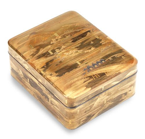 A gold lacquer kobako (small box) and cover 19th century