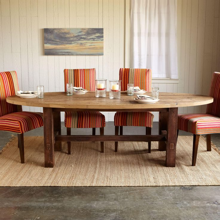 American Furniture Louisville Ky #38: LOUISVILLE OVAL DINING TABLE -- Sturdy White Oak Reclaimed From The American Tobacco Factory In
