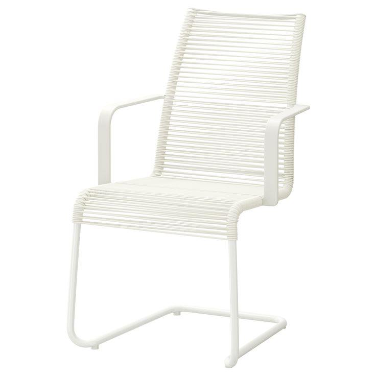 VÄSMAN Chair with armrests - white - IKEA OUTDOOR