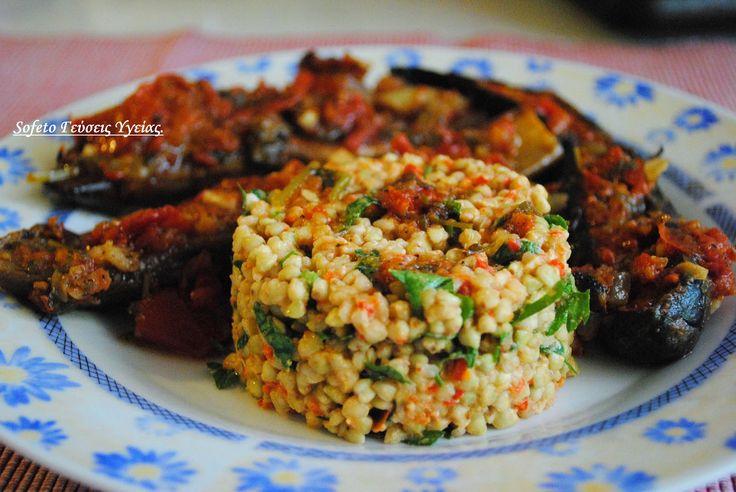 Μελιτζάνες ιμάμ χωρίς τηγάνισμα και «ριζότο» από φαγόπυρο. Συνταγές για διαβητικούς Sofeto Γεύσεις Υγείας.