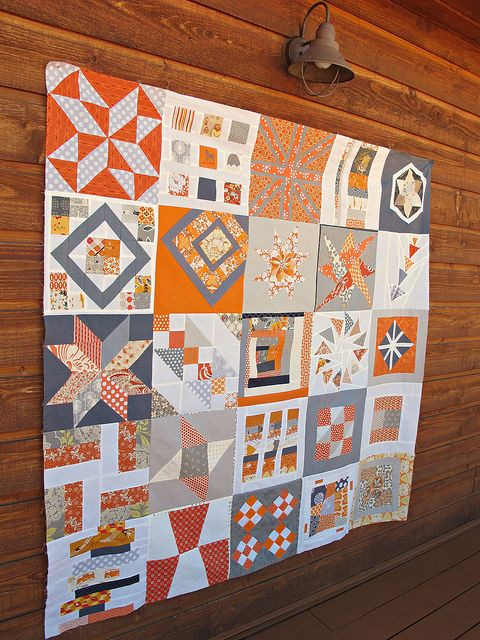 Courtesy of Sewtakeahike blog.: Craft, Color Palate, Inspiration, Color Schemes, Color Combos, Dec Bedroom, Gray Fabric, Gray Quilt, Baby Quilt