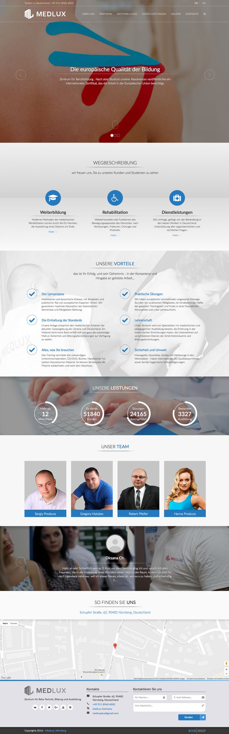 Promotional website for the German company «MedLux». Tags: #medlux, #webdesign, #promosite, #landing, #landingpage, #cover, #wdmg, #wdmgroup, #ukraine, #wdmgroupukraine