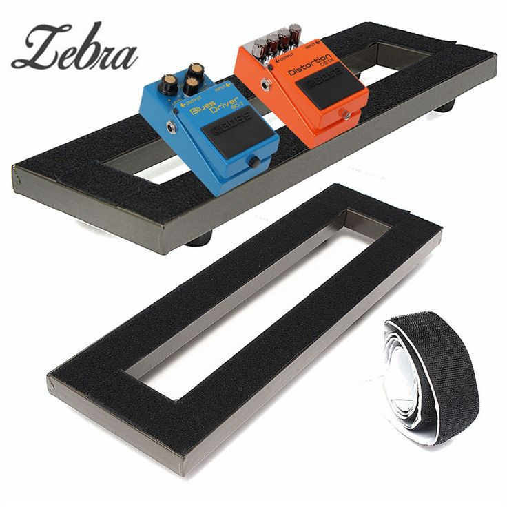 Zebra 40x13cm Alloy Electric Guitar Pedal Board Non-slip Setup Pedalboards Tape with Adhesive Backing Guitar Parts