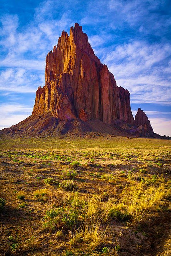 Lonely Shiprock, New Mexico, United States of America.