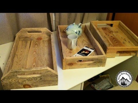 Fabrication d'un plateau en bois de palettes - Projet en bois facile ! - YouTube