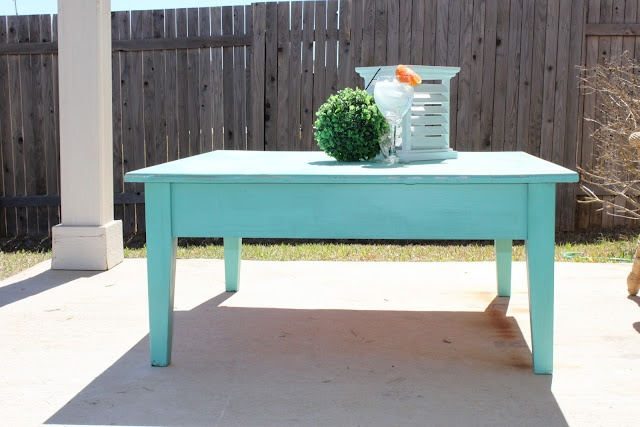 Teal coffee table awesome kitchens pinterest teal for Teal coffee table