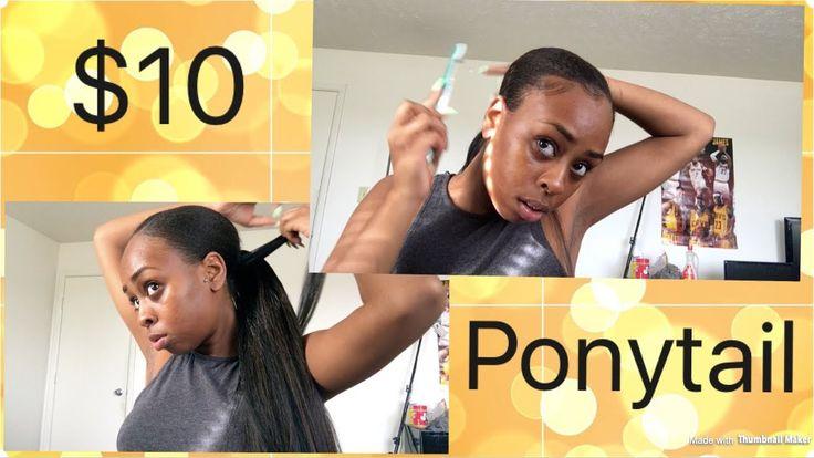 $10 Sleek Low Ponytail | Natural hairstyle - YouTube