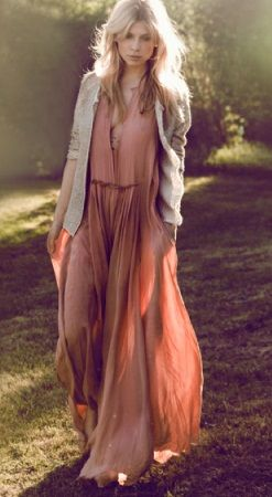 Somewhat drawn to rosey/blush dress, or cream with rosey features at least? Floaty summer garden style