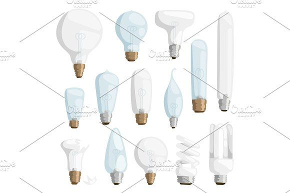 Cartoon lamps light bulb electricity design flat vector illustration set isolated electric icon object bright graphic symbol sign solution energy Graphics Cartoon lamps electric and bright cartoon interior lamps flat vector. Cartoon lamps light bulb elect by Vectorstockerland