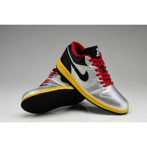 Nike Air Jordan I 1 Retro Mens Shoes Low Limited Silver Black