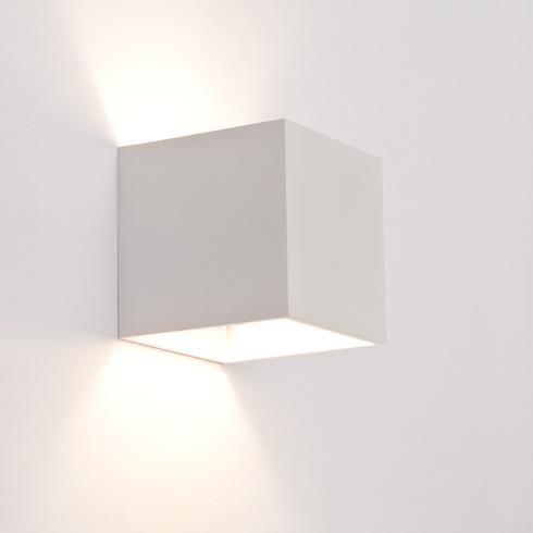 Design wandlamp vierkant wit