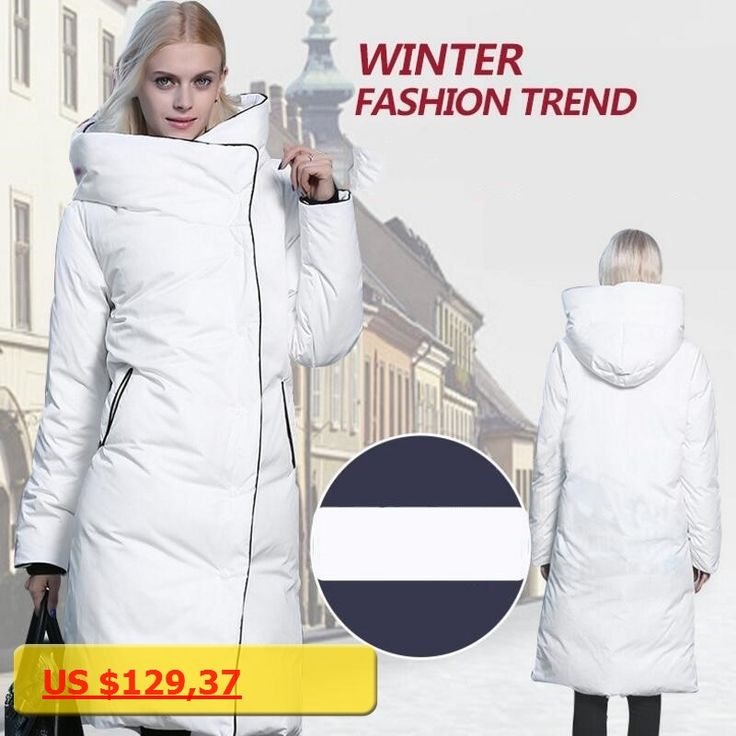 2017 Hot Sale Winter Womens Down Jacket Coat White Duck Down Jacket X-Long Thick Warm Winter Jacket Women Coat Hooded Top Brand