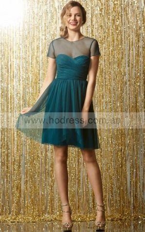 Sleeveless None Jewel Knee-length Tulle Formal Dresses b1400288