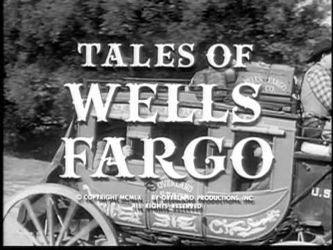 Tales of Wells Fargo started on TV in 1957 -- we were in the height of TV Western popularity by that year. It's star was Dale Robertson  as Jim Hardie, Wells Fargo agent