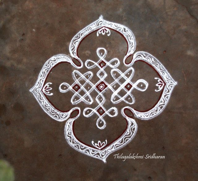 Rangoli and Art Works: CHIKKU KOLAM  (7-1 DOTS)