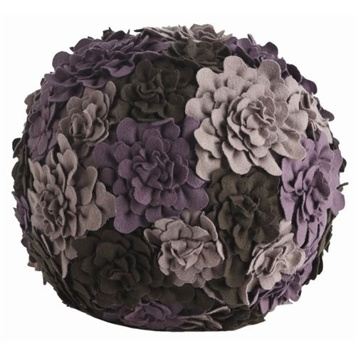Posy Plum/Amethyst/Lilac Flannel PoufIdeas, Arteriors Posies, Flannels Poufs, Posies Ball, Posies Plumamethystlilac, Ball Pillows, Girls Room, Plumamethystlilac Flannels, Flower