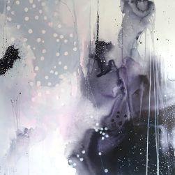 """Maleriet """"Imperfection #6"""" er en del af serien af selvsamme navn, som jeg har malet i september 2017. Måler 150x150 cm. Malet på kvalitetslærred fra JP Rammer med akryl, tusch og andre mix media. Skriv eller ring til mig, hvis du ønsker at købe maleriet, da det ikke kan købes direkte i shoppen. Kan afhentes i Silkeborg eller fragtes. Der er gratis fragt på dette maleri."""