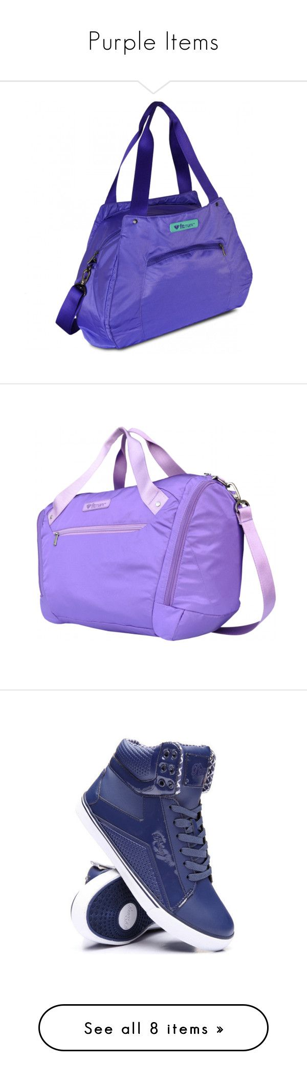 """""""Purple Items"""" by ronitaylorfit ❤ liked on Polyvore featuring bags, handbags, tote bags, tote hand bags, tote bag purse, blue tote bag, blue purse, blue tote, shoes and sneakers"""