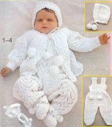 Белый костюм на пол года - Детские костюмы до года - Детские модели - Модели вязанной одежды - Схемы вязания