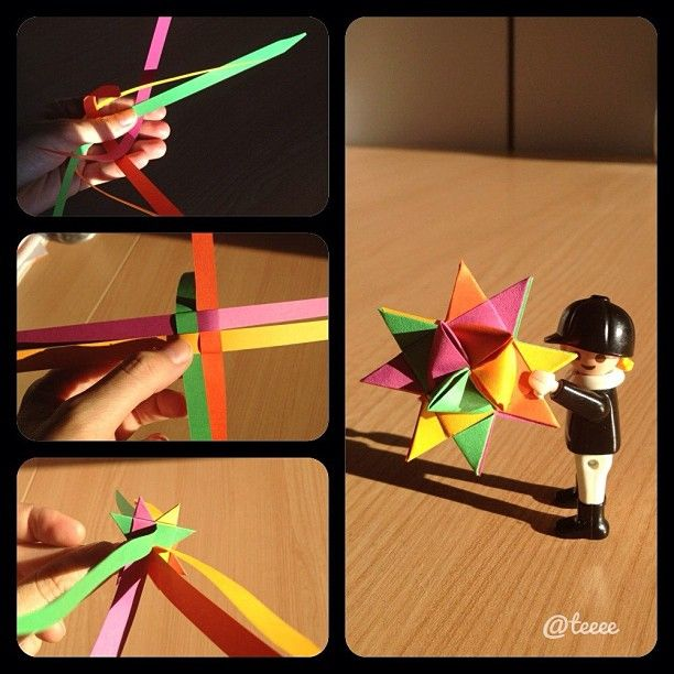 Origami star. Froebel star use to make these with my step mom