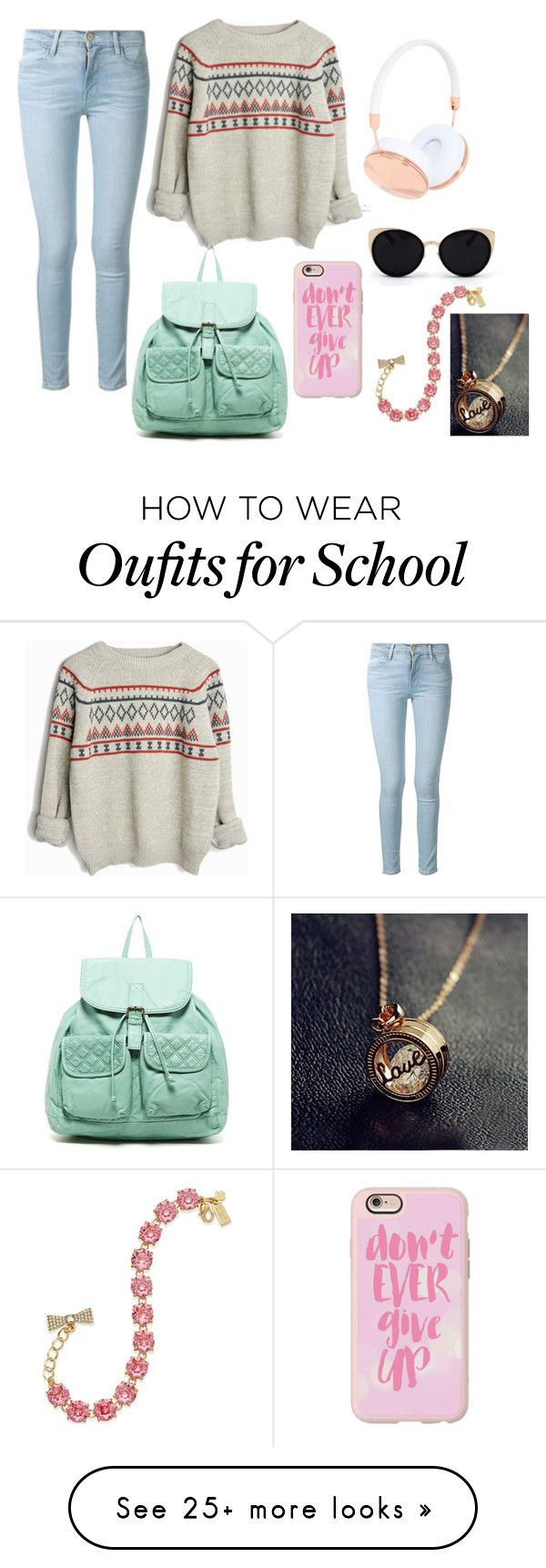T shirt design 7 25xeps -  School _ 9_headphones By Marshmallowkuini On Polyvore Featuring Frame Denim T