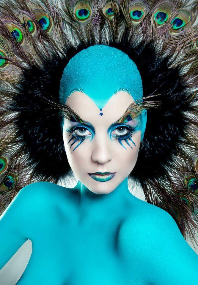 Peacock theme make up