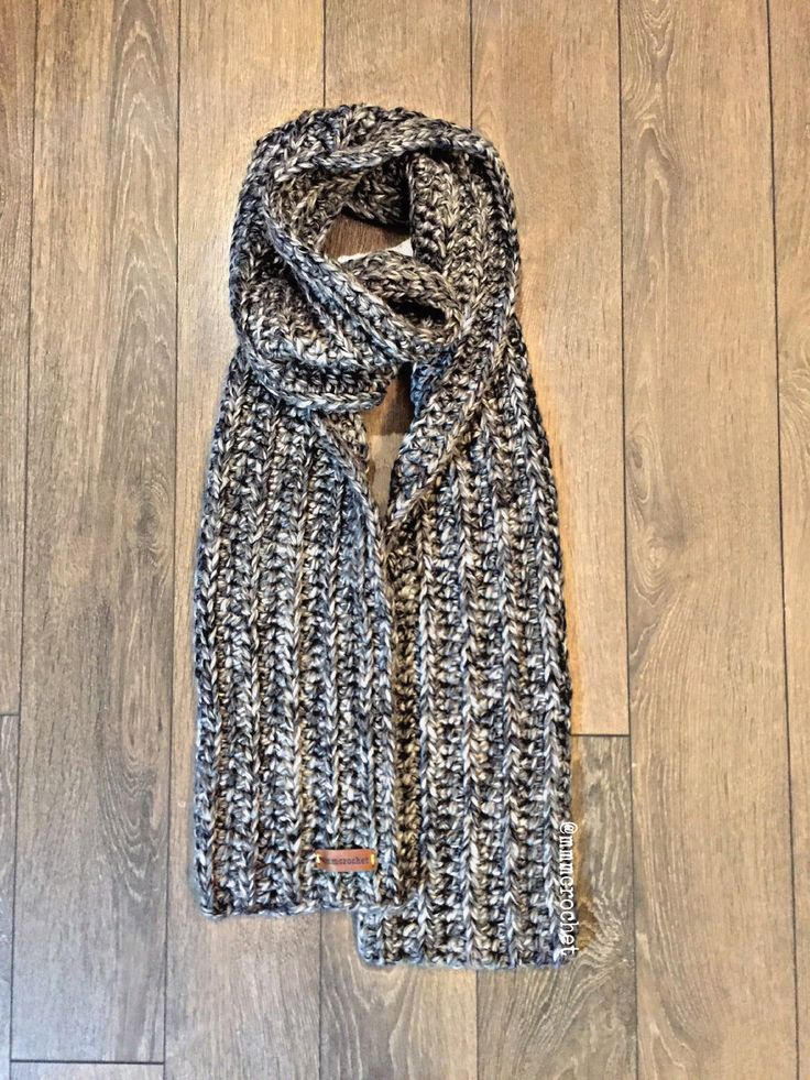 day four.. crochet scarf in grey sky! details on etsy, shop link in bio!