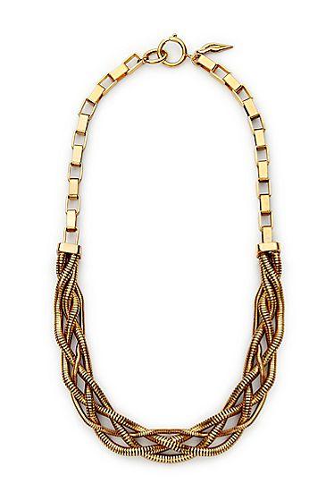 DVF Gemma Braided Chain Link Necklace
