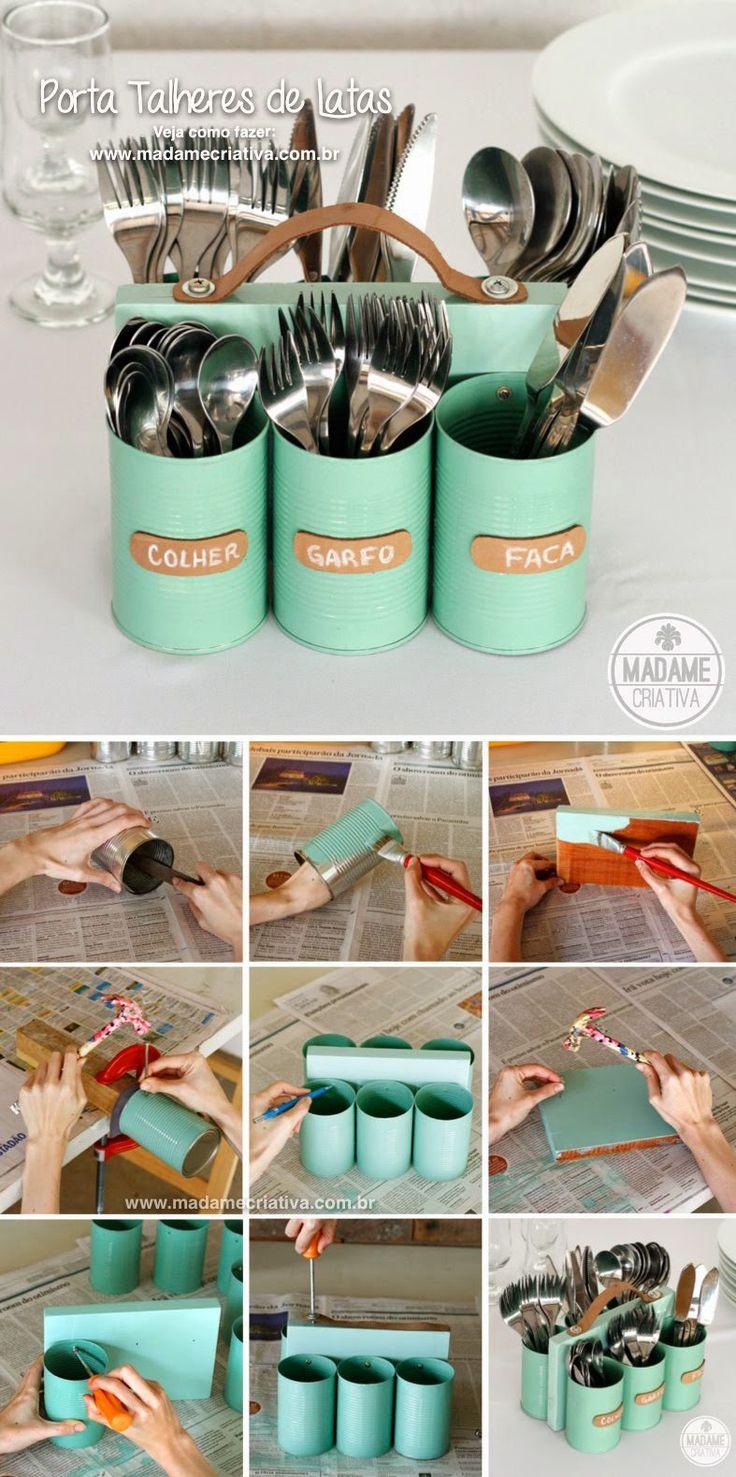 Tin Can Cutlery Holder                                                                                                                                                                                 Más