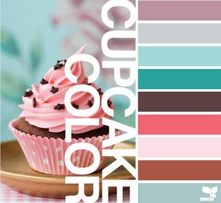 #Pink #Blue #Brown- Perfect for a new organic bakery!