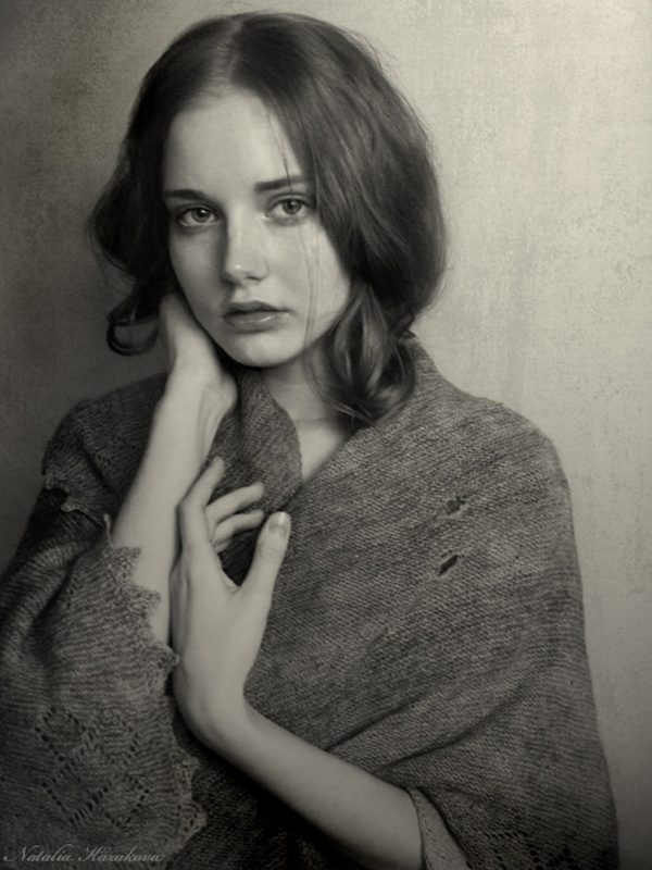 Female Portrait - Photograph by Natalia Kazakova
