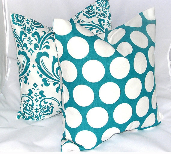 Bold Turquoise Pillow Covers
