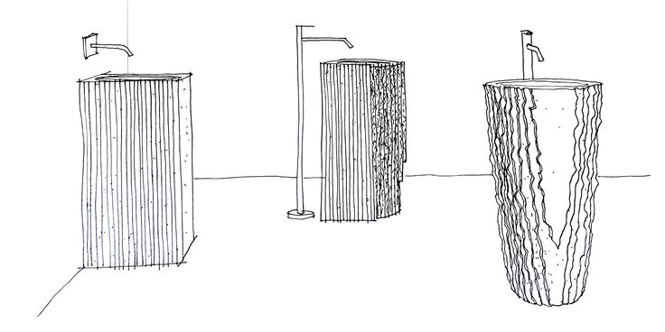 Controverso sketch by Antonio Lupi bathrooms collection #design #interior #interiordesign #home #madeinitaly #italiandesign #london #dimoradesignlondon