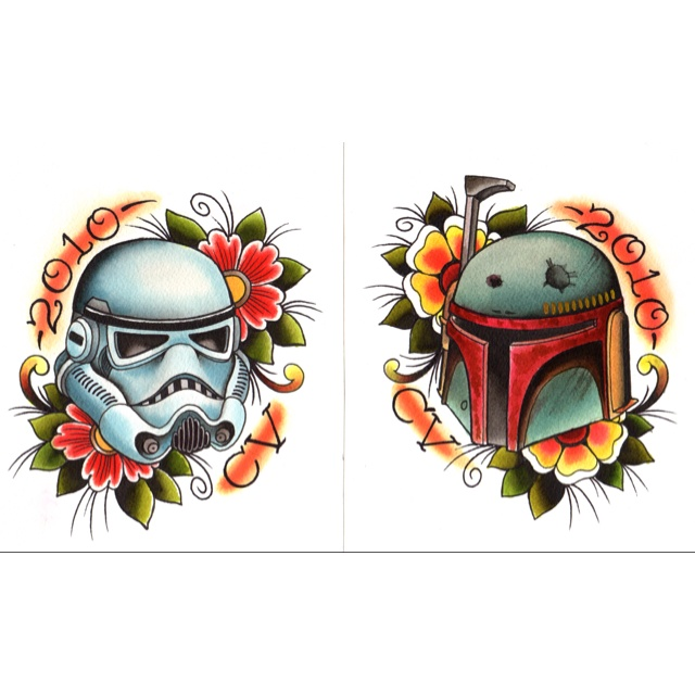 Awesome Star Wars tattoos.