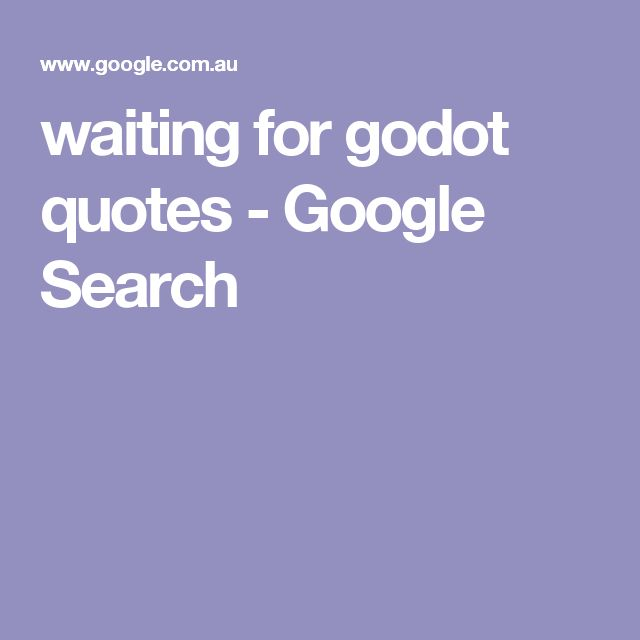 waiting for godot quotes - Google Search