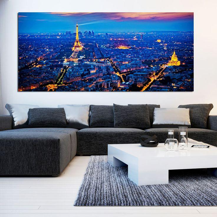 Πίνακας σε καμβά το Παρίσι την νύχτα