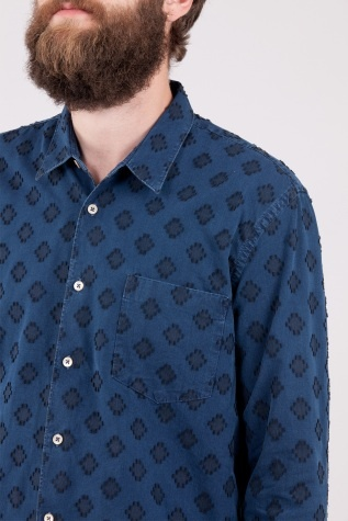 Our Legacy First Shirt Ocean Jacquard - Our Legacy