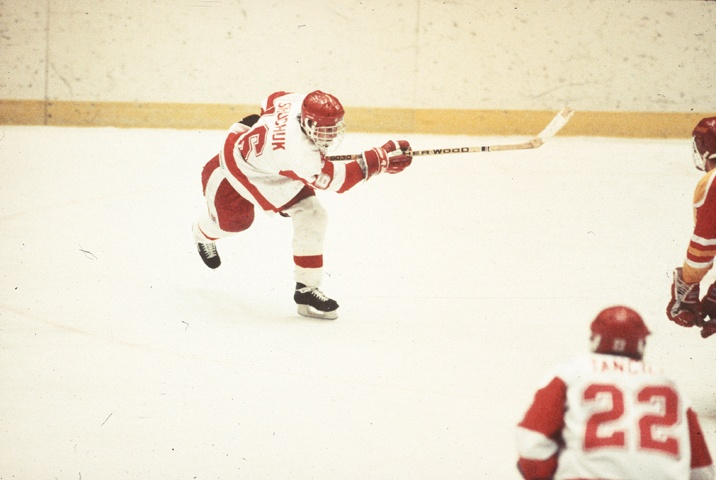 "Since the LA Kings went up 3-0 last night and are one game away from the Stanley Cup finals, today's ""Photo of the Day"" features one of the two Badgers on the Kings' last Cup finals team from 1993. Current assistant coach Gary Shuchuk won the 1990 NCAA title at UW, and scored a double OT game-winner in game 5 of the second round for the Kings in 1993 over Vancouver."